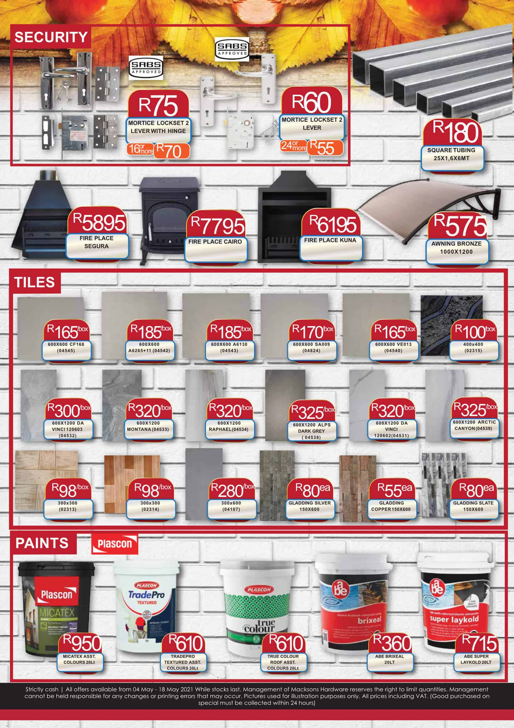Macksons Hardware Special Page 2 May 2021